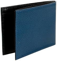 amazon com tusk leonardo slim billfold wallet blue black one size
