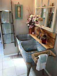 Fantastic Design Of The Rustic Kitchen Ideas With Bucket Sink Brown Wooden Decoratic Other