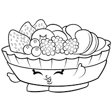Exclusive Fifi Fruit Tart To Color Shopkins Season 2 Coloring Pages Printable And Book Print For Free Find More Online Kids