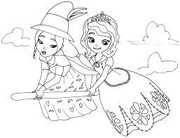 Sofia First Coloring Pages March