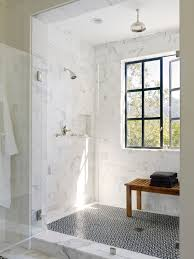 fiberglass shower pan bathroom transitional with accent wall