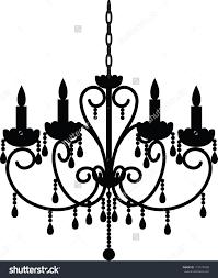 Beautiful Chandelier Silhouette Clip Art Freechandelier Free Of Antique For Crystal