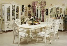 Inspiring White Dining Room With Victorian Style Decorating Ideas For Classy And