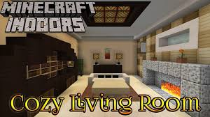 Minecraft Indoors Interior Design Cozy Living Room