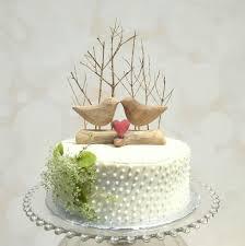 Winter Wedding Cake Topper With Love Birds Rustic Bird Wooden Anniversary Gift