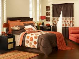 Simple Brown And Orange Bedroom Ideas Regarding