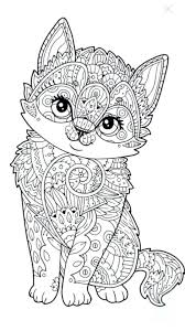 Coloring Pages Of Kittens And Puppies To Print Page Playing Adults Colouring
