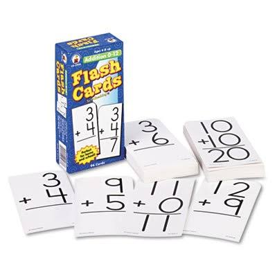 "Carson-dellosa Addition 0 to 12 Flash Cards - 1 To 3 Grades, 6"" x 3"""
