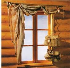 Rustic Window Treatments Including Country Curtains