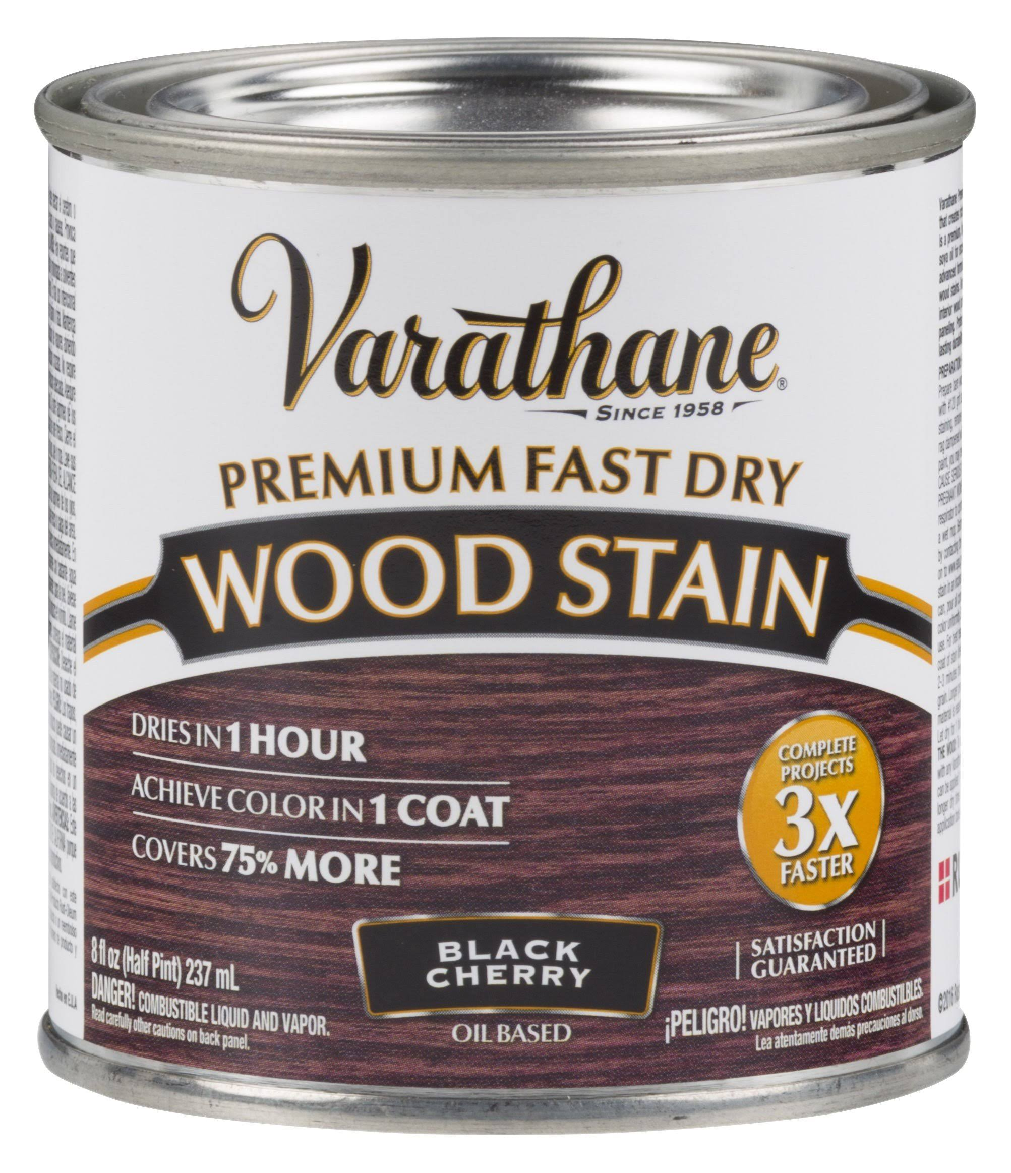 Varathane Fast Dry Wood Stain - Black Cherry