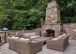 Amazing Outdoor Fireplace With Chimney Furniture Design And Ideas