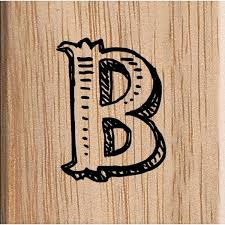 Uppercase Alphabet Letter B Stamp 38Cm X 38Cm Hobbycraft