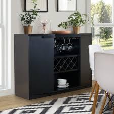 Furniture Of America Chapline Wood Wine Bar Buffet