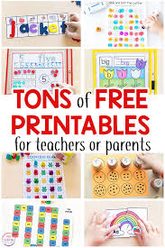 Tons Of Free Printable Activities For Preschool Kindergarten And Early Elementary Math Printables