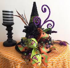 Halloween Pennant Mantel Scarf by Witch Centerpiece Witch Hat Floral Arrangement Witch Hat