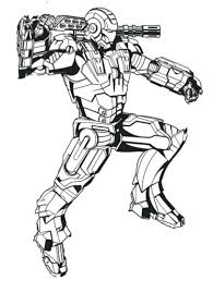 War Machine Printable Coloring Pages Lego Iron Man Print Armor Marvel Full Size