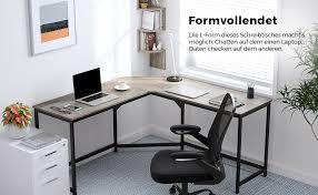 vasagle eckschreibtisch lförmiger computertisch bürotisch arbeitszimmer homeoffice gaming platzsparend einfache montage industrie design