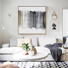 haochu modernen schwarz weiß kühle farben kunst leinwand malerei abstrakte öl poster mauerbilder für wohnzimmer dekoration