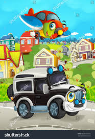 Cartoon Funny Looking Off Road Truck Stock Illustration 690390052 ...