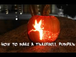Tinkerbell Pumpkin Carving Patterns Templates by Tinkerbell Pumpkin Tutorial Youtube