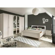 schlafzimmer set luxor bett kleiderschrank nachtkommode spiegel in polar lärche ebay