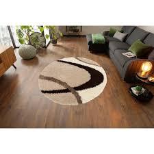 my home hochflor teppich ankara rund 52 mm höhe weicher flor wohnzimmer