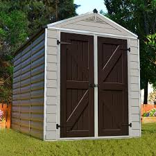 SkyLight™ 6 ft W x 8 ft D Plastic Storage Shed – The Perfect Shed
