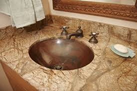bathroom stunning but different countertop materials for