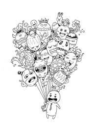 Doodle Invasion Coloring Book 10