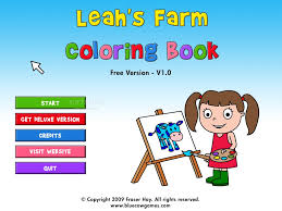 Coloring Book Shareware Download Leah S Farm Screenshot