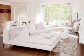 Transitional Living Room Leather Sofa by Amazing Living Room Features Modern White Sofa With Chaise Lounge