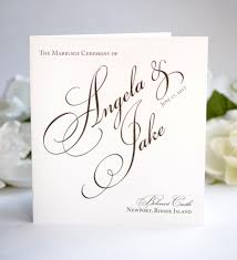 Wedding Program Booklets Classic Programs Black And White Pretty Script Once Charmed Sample