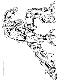 Hot Transformers Color Page Cartoon Characters Coloring Pages