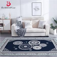 blase kuss blau und weiß kreis muster verdickt schlafzimmer teppich polyester kristall samt teppiche für wohnzimmer wohnkultur matten