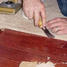 Laminate Floor Transitions Doorway by Installing Carpet Against Hardwood Floors Step By Step With Photos