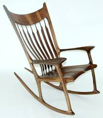 sam maloof rocking chair class custom wooden rocking chair