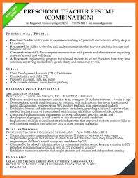 Resumes For Preschool Teachers Teacher Resume Samples Teaching