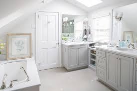 light grey bathroom bathroom traditional with mirror freestanding