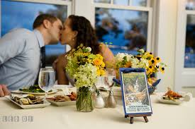 Kent The Bride And Groom Kissing At Their Sweetheart Table Island Maryland Chesapeake Bay Beach