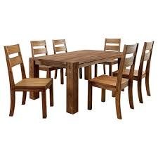 Sun & Pine 7pc Sturdy Dining Table Set Wood/Dark Oak, DARK ... Piece Ding Set Light Chairs Red And Table Wicker Rooms Cream Upholstered Padded Kitchen With Amazoncom Solid Oak Room Of 2 Sturdy 7 Woodespresso Fniture What Is The Best Place To Buy Cheap But Sturdy Fniture Wooden Kids And Eertainment Chairs White Mcmola Case 50kitchen Side Better Homes Gardens Maddox Crossing Chair Brown Details About Of Wood Black Traditional Wing Back Ash Barley Velvet Fabric Parson Room Table 4 In Ch5 4wl Connahs Quay For