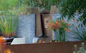 Wall Water Feature Ideas Landscape Design Modern Garden Features Outdoor