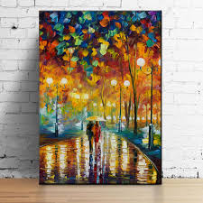 1 Pcs Beautiful Knife Paintings Of Love Canvas Print Colorful Landscape Art Picture By Famous Artists
