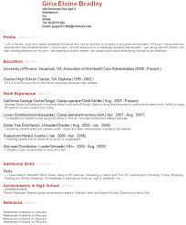 Resume Profile Examples