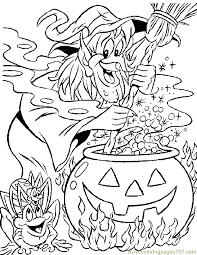2017 Coloring Disney Halloween Pages Pdf With Page Free Printable 1454Jpg
