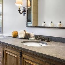 French Casement Bathroom Vanity With Pietra Cardosa Sandstone Countertop