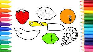KIDS Coloring Page Set For Kitchen Toy Fruit Vegetable Pages Binoculars Flashlight