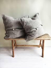 Rustic Throw Pillow Covers Throw Pillow Covers 18 x 18 Rustic linen shams Natural Raw linen sham covers Linen decorative Pillowcases Burlap