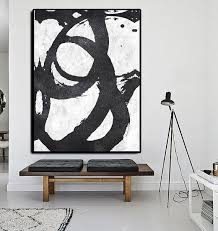Extra Large Abstract Painting On Canvas Textured Por CelineZiangArt