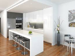 Superb Design Of The Brown Wooden Floor Ideas With White Kitchen Island Wall