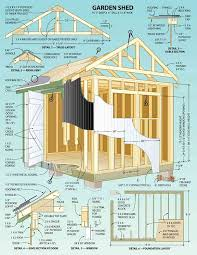 Wood Storage Sheds 10 X 20 by Build Your Own Garden Shed From Pm Plans Storage Building Plans
